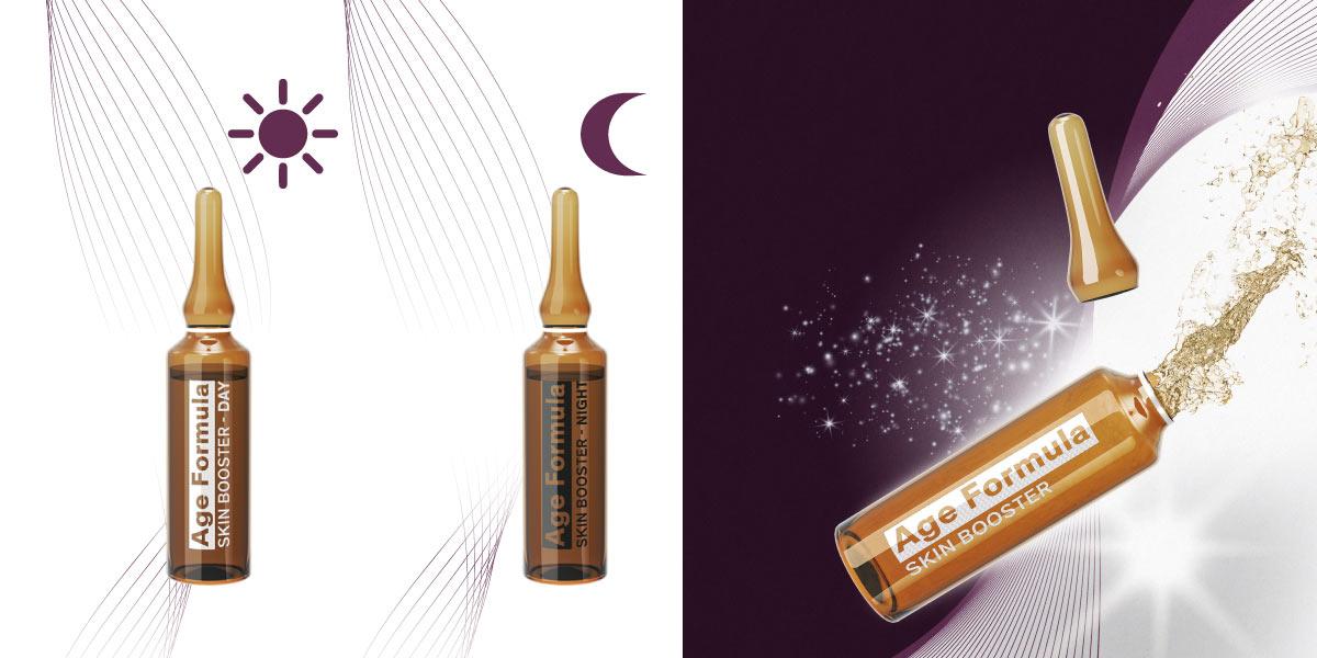 TRATTAMENTO URTO ANTIETA' IN FIALE - Age formula skin booster NIGHT & DAY