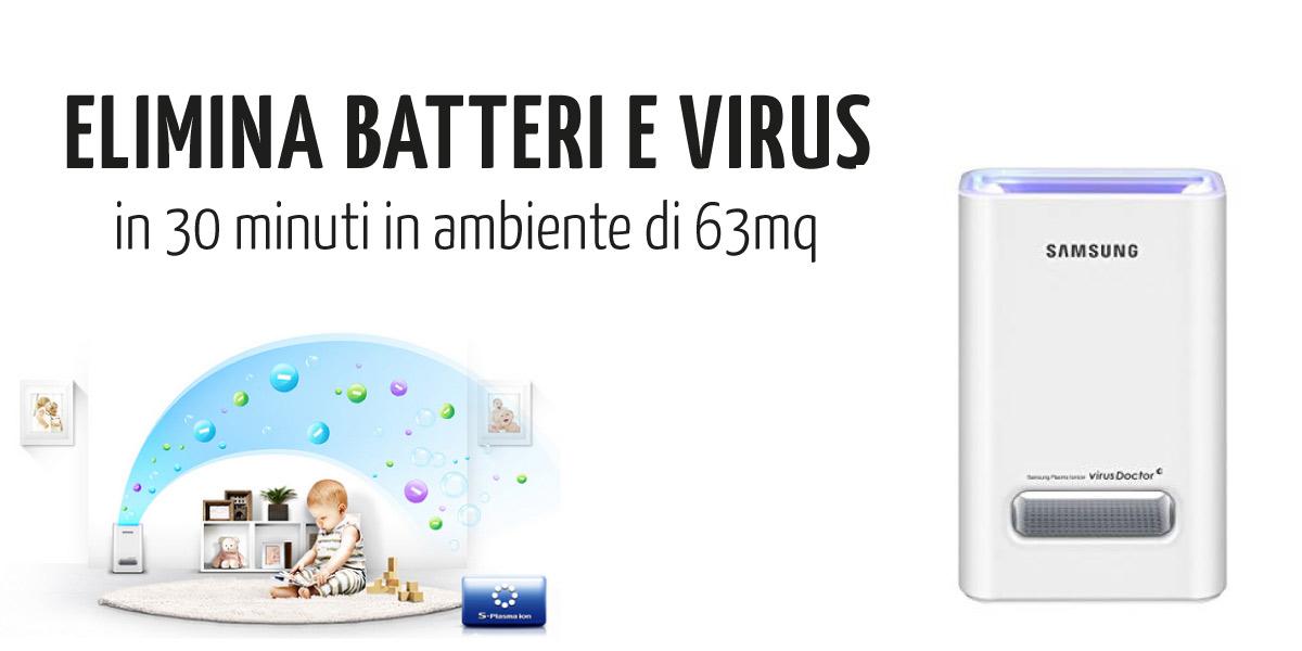 SAMSUNG VIRUS HEALTH - Elimina batteri e virus dagli ambienti in 30 minuti