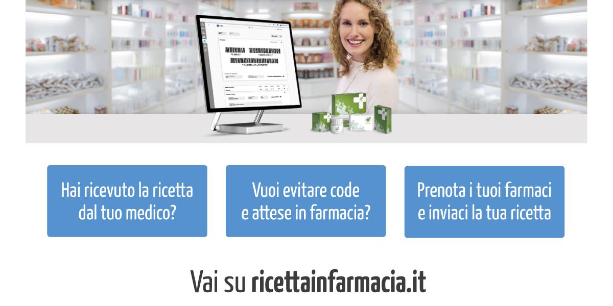RICETTA IN FARMACIA - vai su ricettainfarmacia.it - inserisci il codice NRE della ricetta e inviala in farmacia